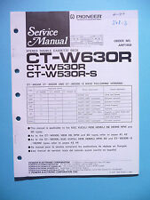 Service-Manual Pioneer CT-W630R/W530R Cas.Deck,ORIGINAL