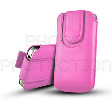 QUALITY MAGNETIC CLOSE LEATHER PULL TAB CASE COVER HOLSTER FOR VARIOUS MOBILES