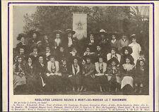40 MONT-DE-MARSAN LE COMITE NOHELISTE IMAGE OLD PRINT 1910