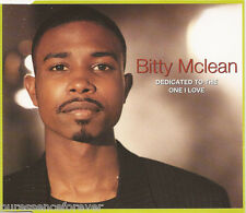 BITTY McLEAN - Dedicated To The One I Love (UK 4 Tk CD Single)