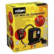 Rolson 250PSI 12v Mini Compresor de aire coche bomba de cama Bicicleta Inflador De Neumáticos Cigarrillo