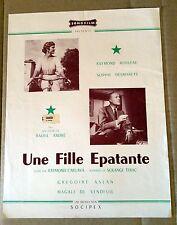 """SYNOPSIS POUR LE FILM """"Une fille épatante"""" 1955 avec Sophie Desmarets"""