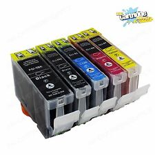 5 Pack Ink For Canon PGI-5 Cli-8 W/ Chip Pixma iP4200 iP4300 iP4500 MP600 MP800