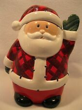 Whole Home Holiday Collection Santa Cookie Jar Ceramic Christmas Chocolate Chip