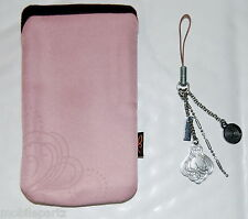 Genuine Nokia 7373 / 7360 Pink Cloth Pouch & Dangle Charms - Used/Opened Product