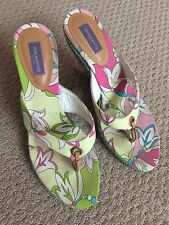 Emilio Pucci wedges thongs shoes 39