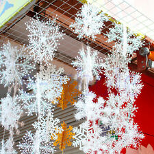 9pc small White Snowflakes Christmas Decorations Supplies Hanging Ornaments Gift