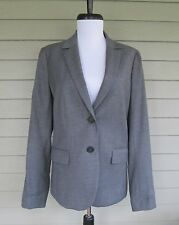 J.Crew Womens Gray Smooth Wool Two Button Blazer Jacket  6  - Schoolboy Boyriend