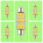 5x 39mm 9smd led canbus festoon light lamp bulb 2.4-2.6W DC12V warm white