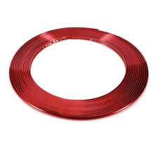 Great Red 8m Car Chrome Styling Decoration Moulding Trim Strip For Car Door 8MM