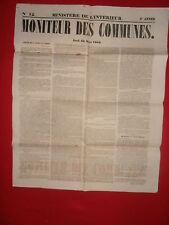 JOURNAL LE MONITEUR DES COMMUNES MINISTERE DE L'INTERIEUR N°12 - 22 MARS 1860