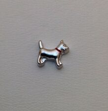 Dog Silver Floating Charm for Glass Memory Lockets #333PW BUY ANY 4 GET 5th FREE