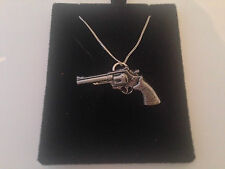 G12 Modern Revolver on a 925 sterling silver Necklace Handmade 20 inch chain