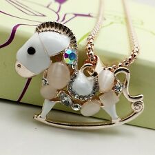 Fashion small Trojan sweater chain Long crystal mosaic necklace K130