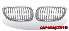 Front Kidney Grille Chrome & Silver For BMW E92 E93 328i 335i M3 2DR 2007-2010