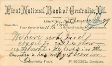 The First National Bank of Centralia, Centralia IL 1879
