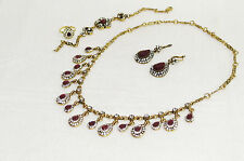HIGH QUALITY SPARKLING NECKLACE JEWELLERY SET INDIAN TURKISH PARTIES WOMAN WEAR6