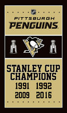 NEW FOR NHL Pittsburgh Penguins flag Stanley Cup Champions banner flags 3x5FT
