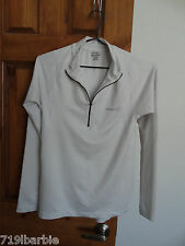Reebok women's Play Dry long sleeve 1/2 zip athletic pullover top shirt size M