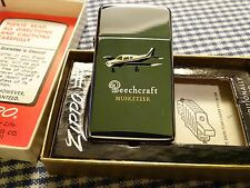 ZIPPO BEECHCRAFT MUSKETEER SLIM LIGHTER 1964