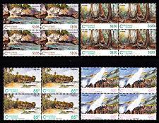 1993 Christmas Island Scenic Views - MUH Blocks of 4