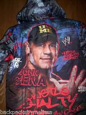 WWE John CENA Boy's Winter Puffer COAT size 4/5 NeW Warm Hooded Jacket Wrestler