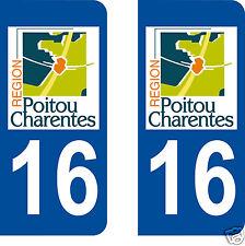 aufkleber nummernschilder auto Abteilung Charente 16