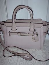 NWT Coach Pebbled Leather Swagger 27 Handbag Satchel Shoulder Bag Birch 34816