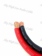 25 ' ft 2/0 Gauge AWG 12.5' RED / 12.5' BLACK Power Ground Wire Sky High GA ft