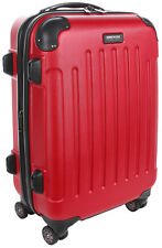 """Kenneth Cole Reaction Renegade 20"""" Expandable Spinner Carry On Luggage - Red"""