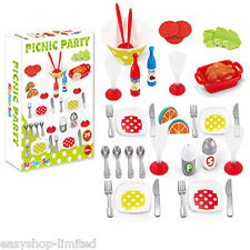 39PcsKids Plastic Picnic Role Play Camping Party Colorful Dinner Set Xmas Gift