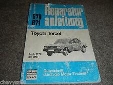 1978 78 TOYOTA TERCEL GERMAN EDM REPAIR SERVICE SHOP MANUAL REPARATUR ANLEITUNG