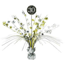 30th Birthday Spray Centrepiece Table Decoration Black Silver Gold Age 30 Party