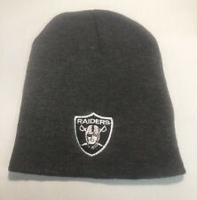 Oakland Raiders Gray Beanie New Winter Hat Scull Cap