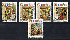 TOGO 1972 CHRISTMAS SET OF ALL 5 COMMEMORATIVE STAMPS CTO