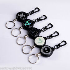 Steel Wire Practical Retractable Buckle Carabiner Anti-lost Key Chain Keychain