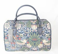 Strawberrry Thief Bird design Large Tapestry Barrel Bag - Handbag Signare