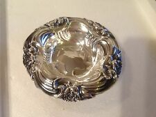 Antique Mermod, Jaccard & King Co. Sterling Silver Bowl Flower Repousse Design