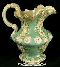 Antique 1840 Charles Meigh Hanley Stunning Pottery Water Pitcher for Basin  (HH)