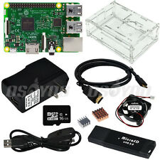 Raspberry Pi Full Kit Pi 3 Board Clear Case Mini Fan 2.5A EU/US/UK Power Adapter