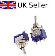 10pcs MINI 6a 125vac SPDT mts-102 3 PIN 2 posizione ON-ON INTERRUTTORI UK ~