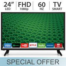 "VIZIO 24"" 1080p FULL HD 60Hz LED / LCD Smart TV with Built-in WiFi - D24-D1"