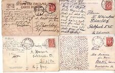 RUSSIA / POLAND - 1910/1912 LOT OF 4 POSTCARDS NICE CANCELS