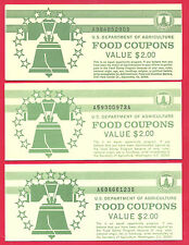 FOOD Stamp Coupon BOOKS 3 $2.00 FULL BOOKS  1985 A1989 A1993 B UNC NEW