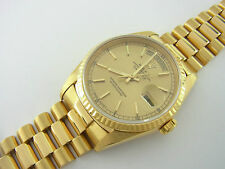 Rolex Day-Date President Ref 18238 aus 750er Gelbgold Double Quickset 36 mm