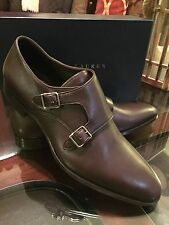 "Ralph Lauren Mens ""Gavrie"" Monk-Strap Shoes Leather Made In Italy Sz 10.5 Brown"