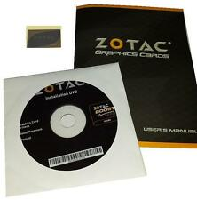 original zotac GeForce GTX570 Grafikkarten Treiber DVD Boost + Handbuch +Sticker
