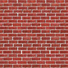Brick Wall Backdrop Party Accessory (1 count) (1/Pkg) , New, Free Shipping