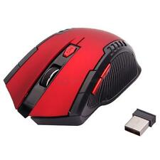 2.4GHz Wireless Optical Mouse/Mice + USB 2.0 Receiver for PC Laptop Red & Black
