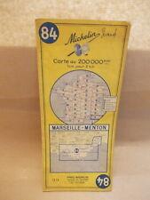 Vintage carte Marseille-Menton - Michelin N° 84  uit 1965 - bonne etat